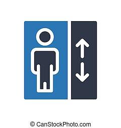 lift  glyph color icon