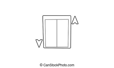 Lift icon animation best outline object on white background