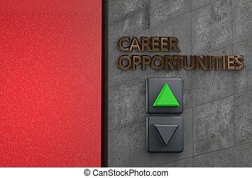 """lift, met, """"career, opportunities"""", woorden"""
