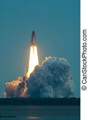 Lift Off of Endeavour STS-134 - Morning launch of NASA...