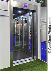 Lift - Open door at contemporary elevator cabin
