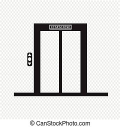 lift, pictogram