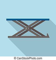 Lift platform icon, flat style