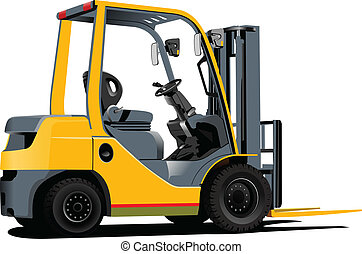 Lift truck. Forklift. Vector illustration