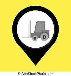 lift truck isolated icon design