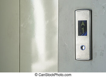 lift with button in the building.
