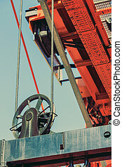 Lifting block of crane, industry detail
