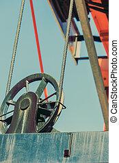 Lifting block of crane, industry detail