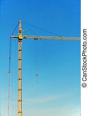 Lifting construction crane