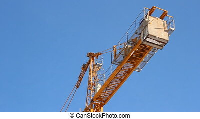 Lifting construction crane. constru
