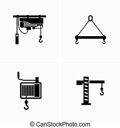 Lifting equipment, gear - Vector