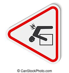 Lifting Hazard Symbol Sign Isolate On White Background, ...