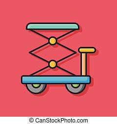 lifting jacks vector icon