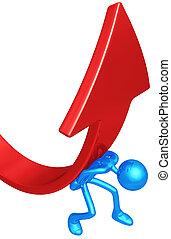 Lifting Market Trend Arrow - 3D Concept And Presentation ...