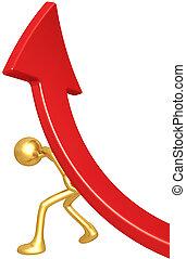 Lifting Market Trend Arrow