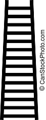 Lifting staircase silhouette