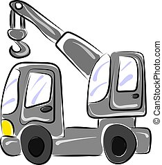 Lifting truck, illustration, vector on white background.