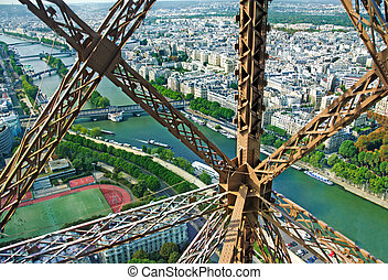 Lifting up the Eiffel Tower by lif