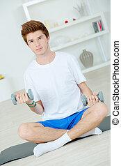 Lifting weights at home
