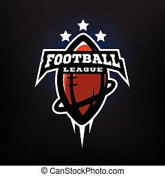 liga, amerikanische , fußball, logo.