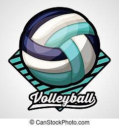 liga, desenho, voleibol