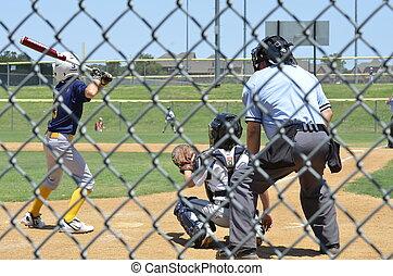 liga, poco, juego del béisbol