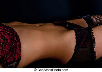 ligerie, κόκκινο , bodyscape