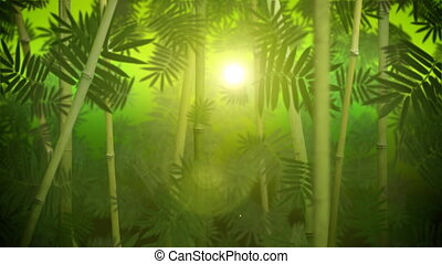 liget, bambusz, zöld, bukfenc