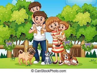 liget, család