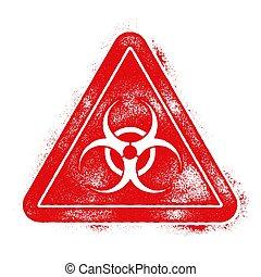liggen, biohazard, illustratie