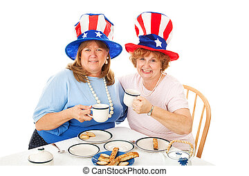 liggen, foto, van, thee partij, conservatives