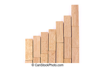 liggen, (jenga)., tabel, hout, spel, markt