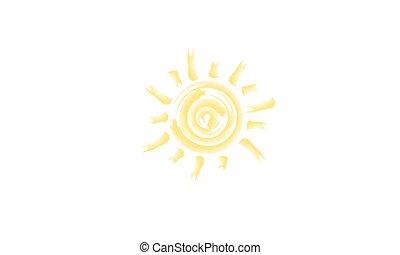 light., étoile, soleil