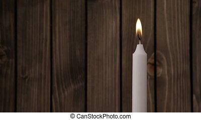 Light a candle closeup