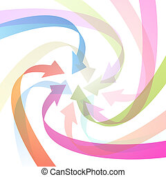 Light Abstract Colorful Vector Arrows Background