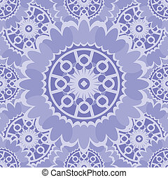 Light abstract seamless pattern with round ornamental elements. Vector soft purple background.