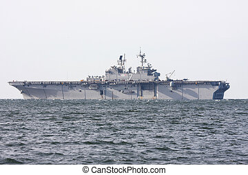 Aircraft Carrier - Light Aircraft Carrier at sea