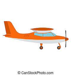 Light aircraft vector illustration isolated on a white background