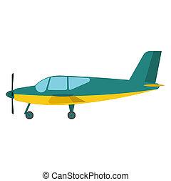 Light aircraft vector illustration.