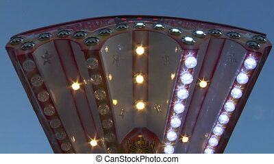 Colored lights in amusement park