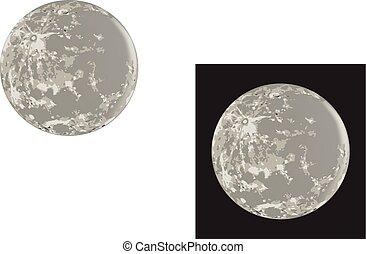light and black moon