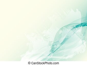 Light and bright abstract background with lines, waves and water spots. EPS10 vector illustration
