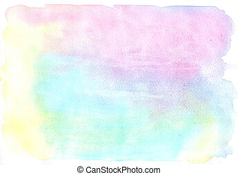 Light and soft watercolor pattern of blue and pink paints on...