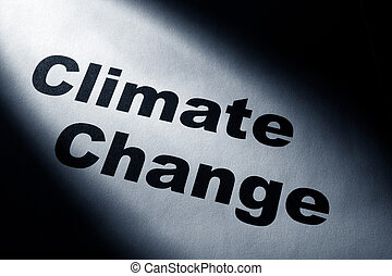 Climate Change - light and word of Climate Change for...