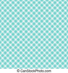 Light aqua blue Gingham Fabric Background - A light aqua...