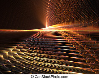 Light at the end - fractal rendering resembling light at the...