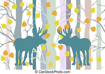 Light autumn forest.
