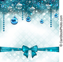 Light background with Christmas traditional elements