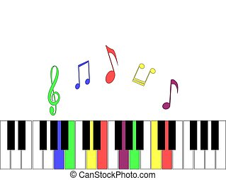 Light background with elements of the piano