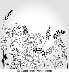 Light background with flowers